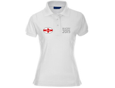 Angemessen Embroidered England Womens Premium 210 Gram Rugby Polo Shirt (6 Colours) Durch Wissenschaftlichen Prozess