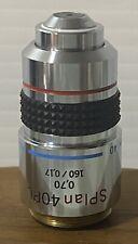 Olympus Splan 40pl 070 160017 40x Phase Contrast Microscope Objective
