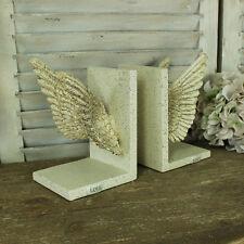 creme kunstvoll engel feenflügel bücherstützen büro schlafzimmer
