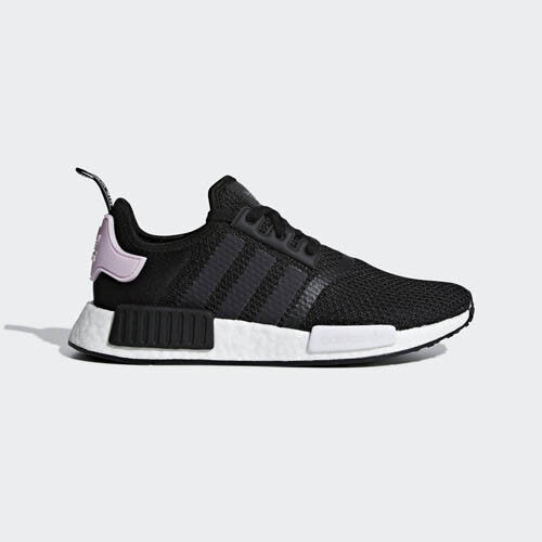 Adidas B37649 NMD R1 Running shoes black white pink Sneakers