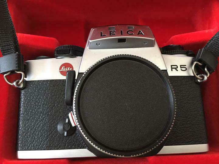 Leica R5 35mm Film SLR Camera Used Silver Genuine Rare Free Shipping from Japan