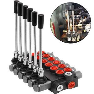 6-Spool-Hydraulic-Directional-Control-Valve-11gpm-Motors-Adjustable-40l-min