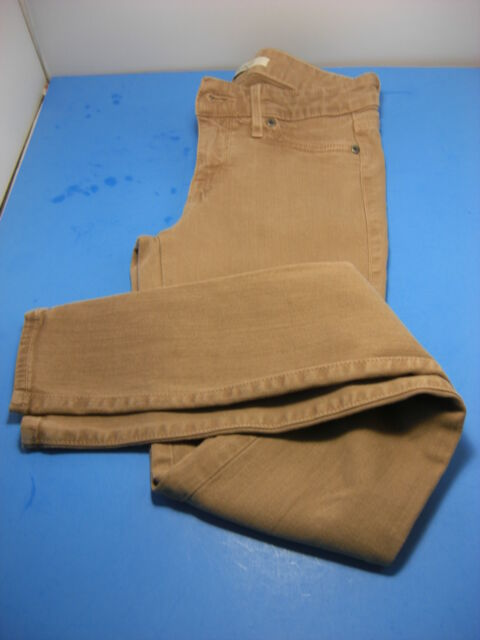 Women's Rich & Skinny Jeans Light Brown Low Rise Stretch Denim Size 26