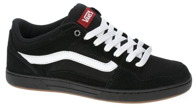 912ea0d3 Vans BAXTER Mens Shoes NEW Sizes 6.5-13 BLACK WHITE GUM Skate Footwear FREE  SHIP