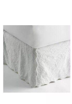 Royal Velvet King Tailored Bedskirt 100/% Egyptian Cotton Lustrous Steel