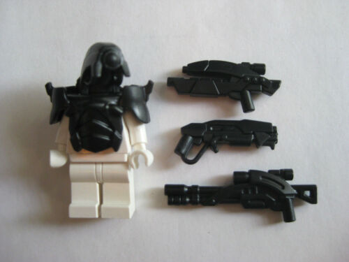 Custom ANDROID Armor /& Weapon Pack for Lego Minifigures Mass Effect Legion BLACK