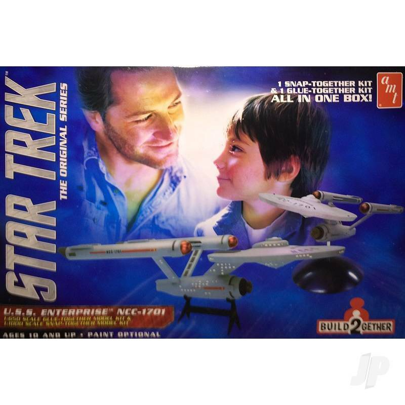 Star Trek USS Enterprise (1 Snap together & 1 Glue together) Plastic Model Set