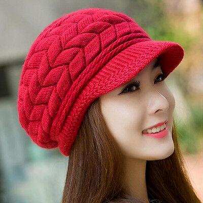 Women Winter Warm Knit Crochet Slouch Baggy Beanie Hat Crochet Ski Cap Beret NEW