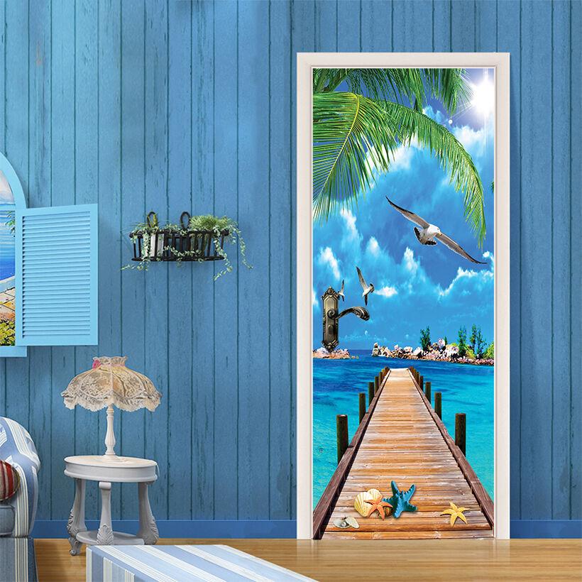 3D Seevögel Tür Wandmalerei Wandaufkleber Aufkleber AJ WALLPAPER DE Kyra