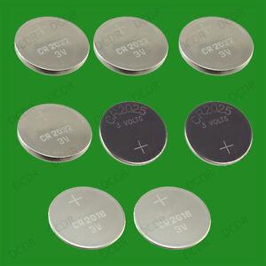 8 x 3v lithiumzellen coin knopfzelle cr2032 cr2025 cr2016 uhr auto ebay. Black Bedroom Furniture Sets. Home Design Ideas