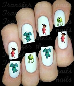MONSTER-INC-30-Stickers-autocollant-ongles-manucure-nail-art-water-decal-deco