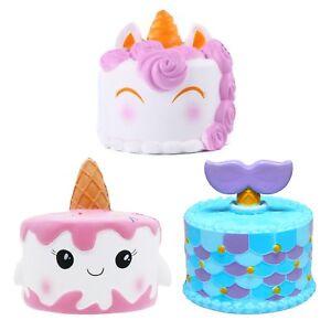Image Is Loading Jumbo Slow Rising Squishies Scented Mermaid Unicorn Cake