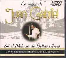 Balada 70s 80s JUAN GABRIEL En el palacio de Bellas Artes y la Sinfonica 2cd+dvd