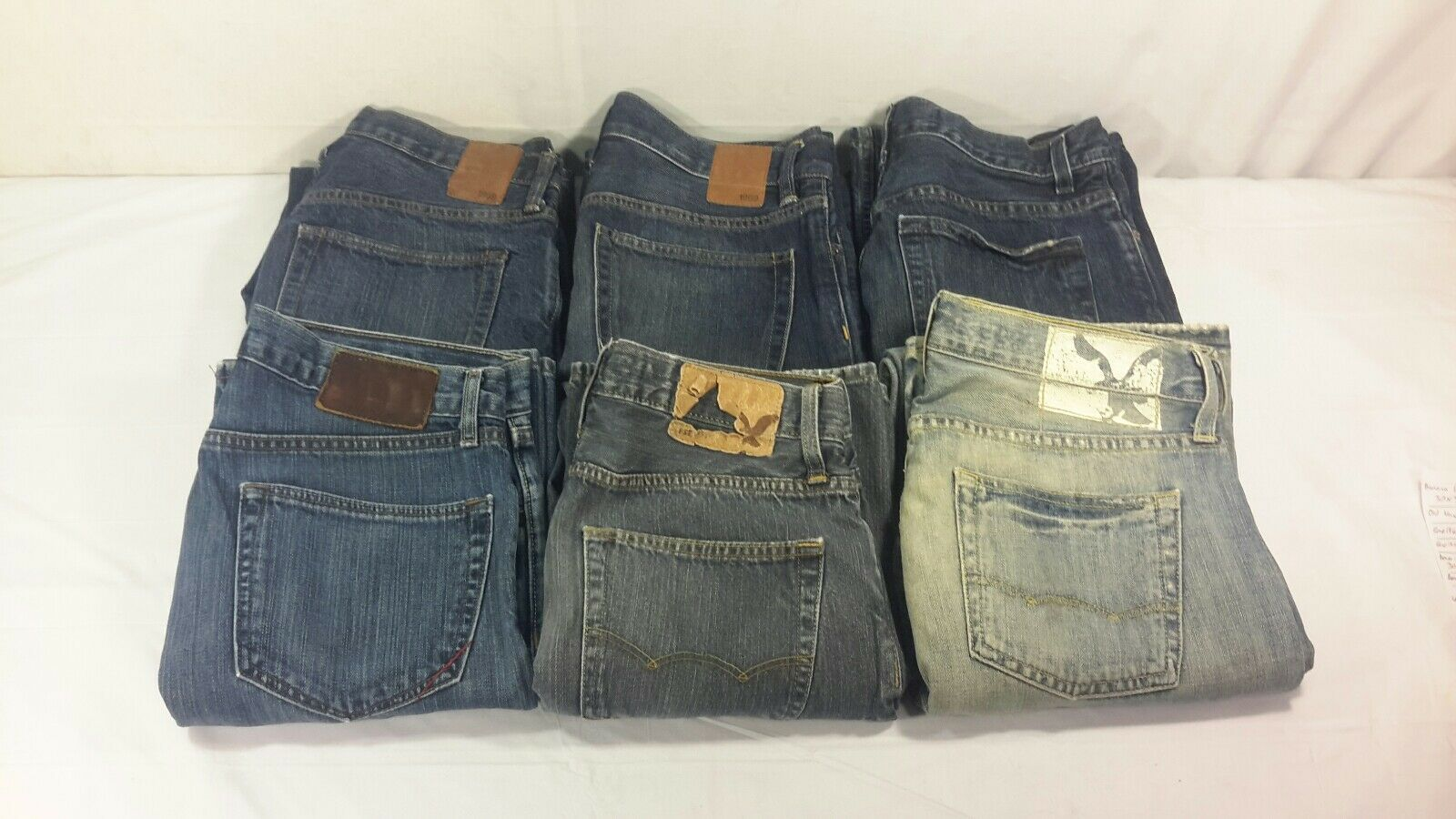LOT of 6 Mens Designer bluee Jeans Banana Republic Old Navy Gap AE Size 30 x 32