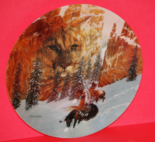 """Canyon of the Cat"" 1992 Faces of Nature Series Collector Plate"