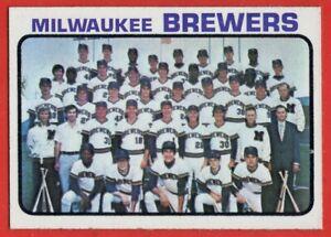1973 Topps #127 Milwaukee Brewers Team NEAR MINT/MINT+ Ken Brett FREE SHIPPING