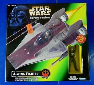 STAR-WARS-the-Power-Of-The-Force-A-WING-FIGHTER-1997-Hasbro-NIB-NEW