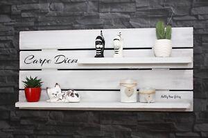 Details zu Palettenmöbel Regal Vintage Wandregal Küche Shabby chic uset  look \