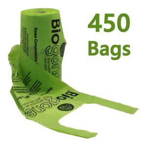 450-Dog-Poo-Bags-HOME-COMPOSTABLE-w-Handles-Gussets-FREE-Next-Day-Shipping