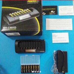 Maha-PowerEx-MH-C801D-8x-Cell-Fujitsu-Eneloop-OEM-Pro-1-hr-Battery-Charger