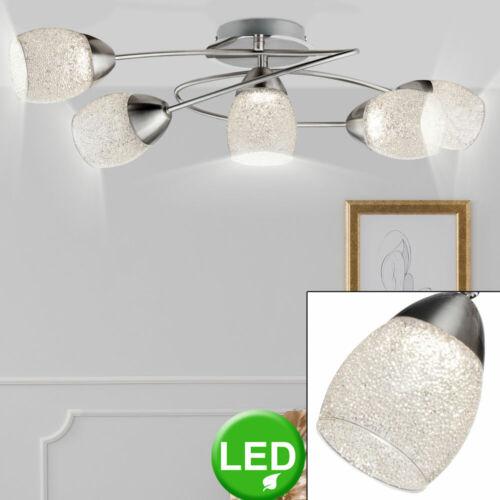 LED Chrom Decken Hänge Lampe Gäste Schlaf Zimmer Leuchte Kristall Spot beweglich