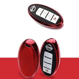 Red TPU Soft Remote Key Fob Holder Case Cover For Infiniti M G Q EX FX QX50 G37