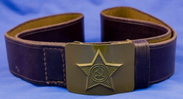 ORIGINAL USSR Soviet Belt with buckle STAR + HAMMER AND SICKLE
