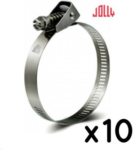 lot de 10 Jolly libération rapide Jubilee Clip Tuyau de clips 90 mm de Plomberie 32//4