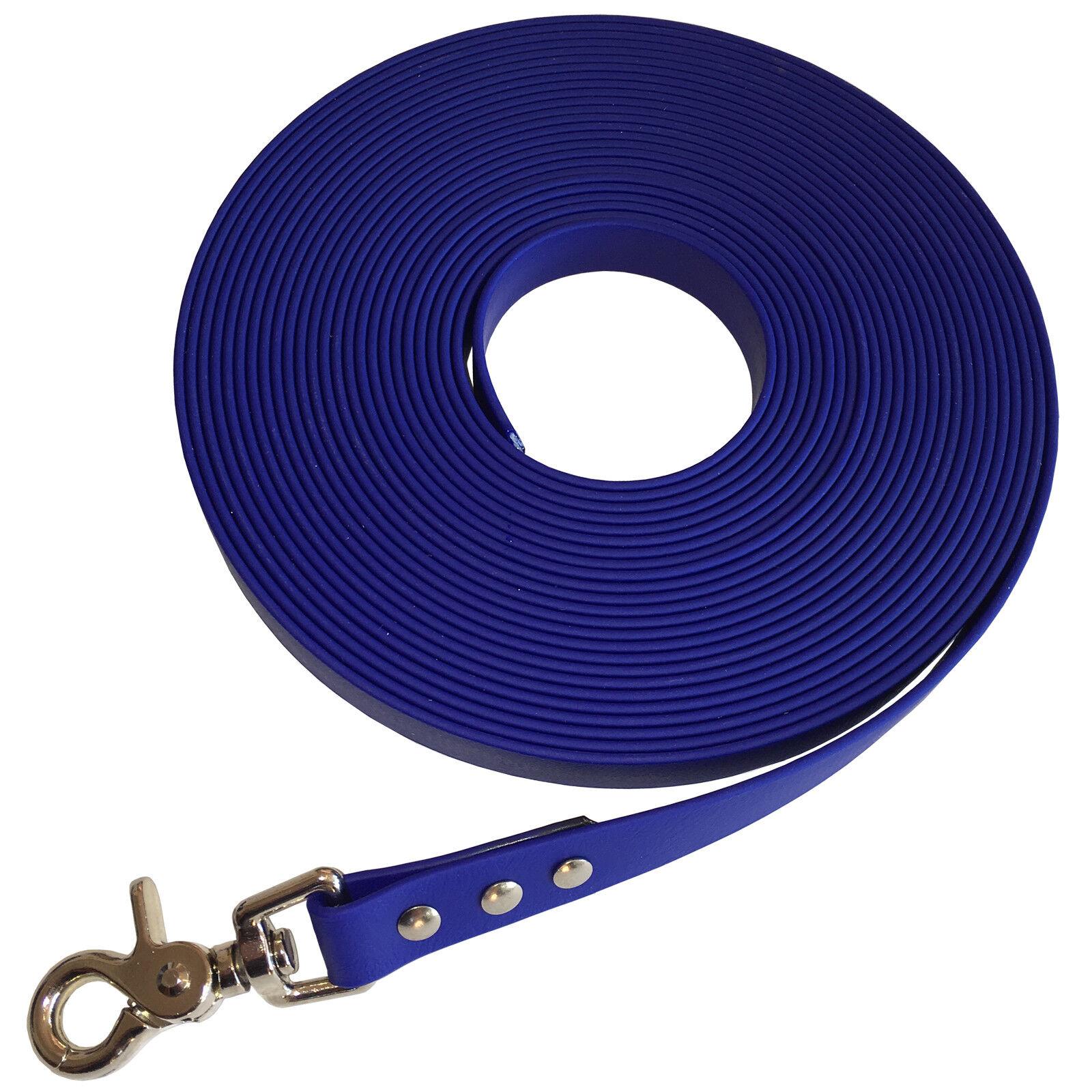 NEU BIOTHANE 19mm Schleppleine Fährtenleine Schweissleine 10m blau    | Mittlere Kosten  bc824f