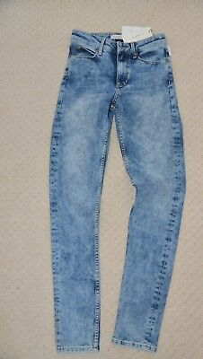 100% Vero Nuovo Stilista Sandro Paris Highwaist Jeans Skinny Fit Blu Denim Scolorita Uk6 Eu 34- Una Grande Varietà Di Modelli