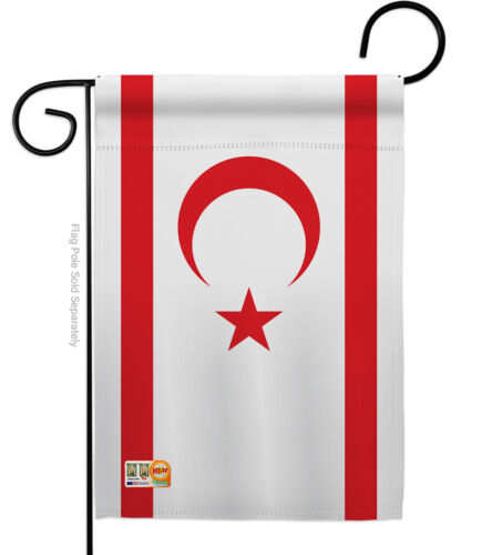 Details about  /Cyprus Northern Nationality Turkish North Nicosia Kyrenia Garden House Yard Flag