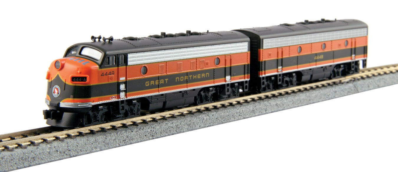 Spur N-Kato diesellokset EMD f7a + B Great Northern -- 106-0421 NUOVO