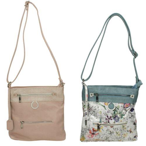 Damen Rieker H1302 rosa oder Multi Schultertasche Tasche mit verstellbarem