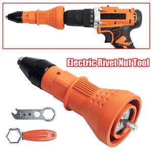 Elettrico-Rivetto-Dado-Pistola-Rivettatrice-Trapano-Cordless-Adattatore-Inserto