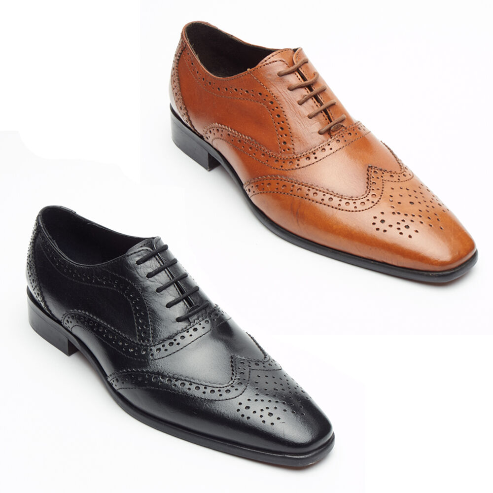Gentlemen/Ladies Lucini Italian Genuine first Leather Brogue Shoes Reputation first Genuine buy Elegant and solemn 74bedd