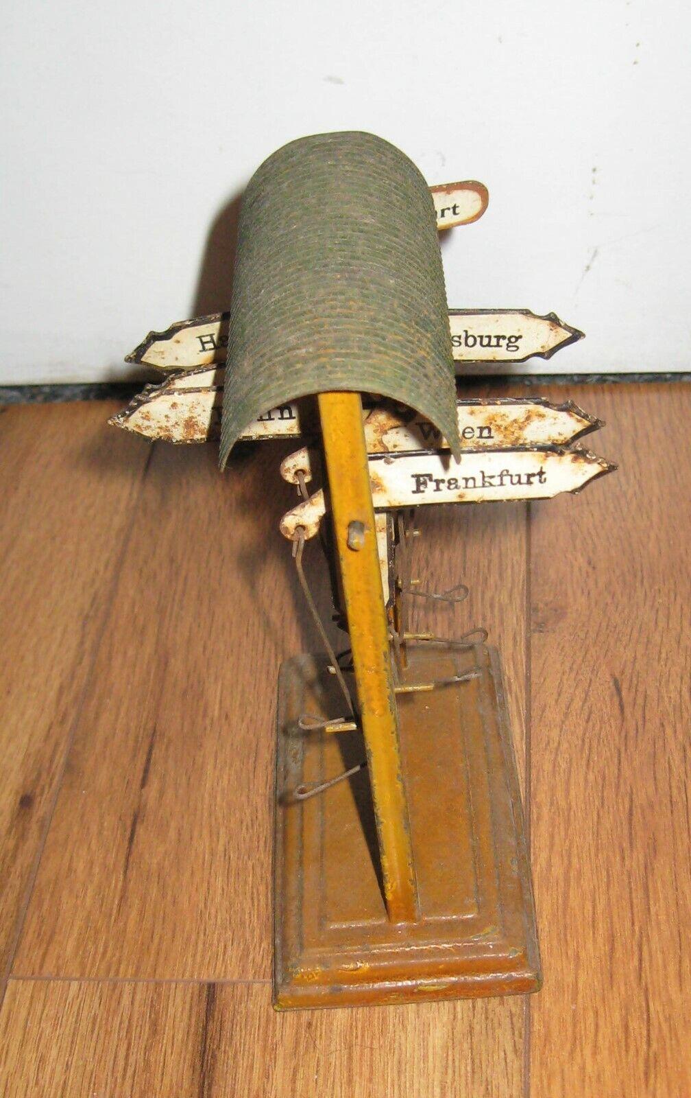 Prewar German Marklin Train Destination Sign Cities Prewar Antique Tin Rare Bing