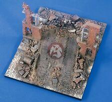 "Verlinden 1/35 ""Rampage"" Street Ruin Section WWII Diorama Base [Resin] 2132"