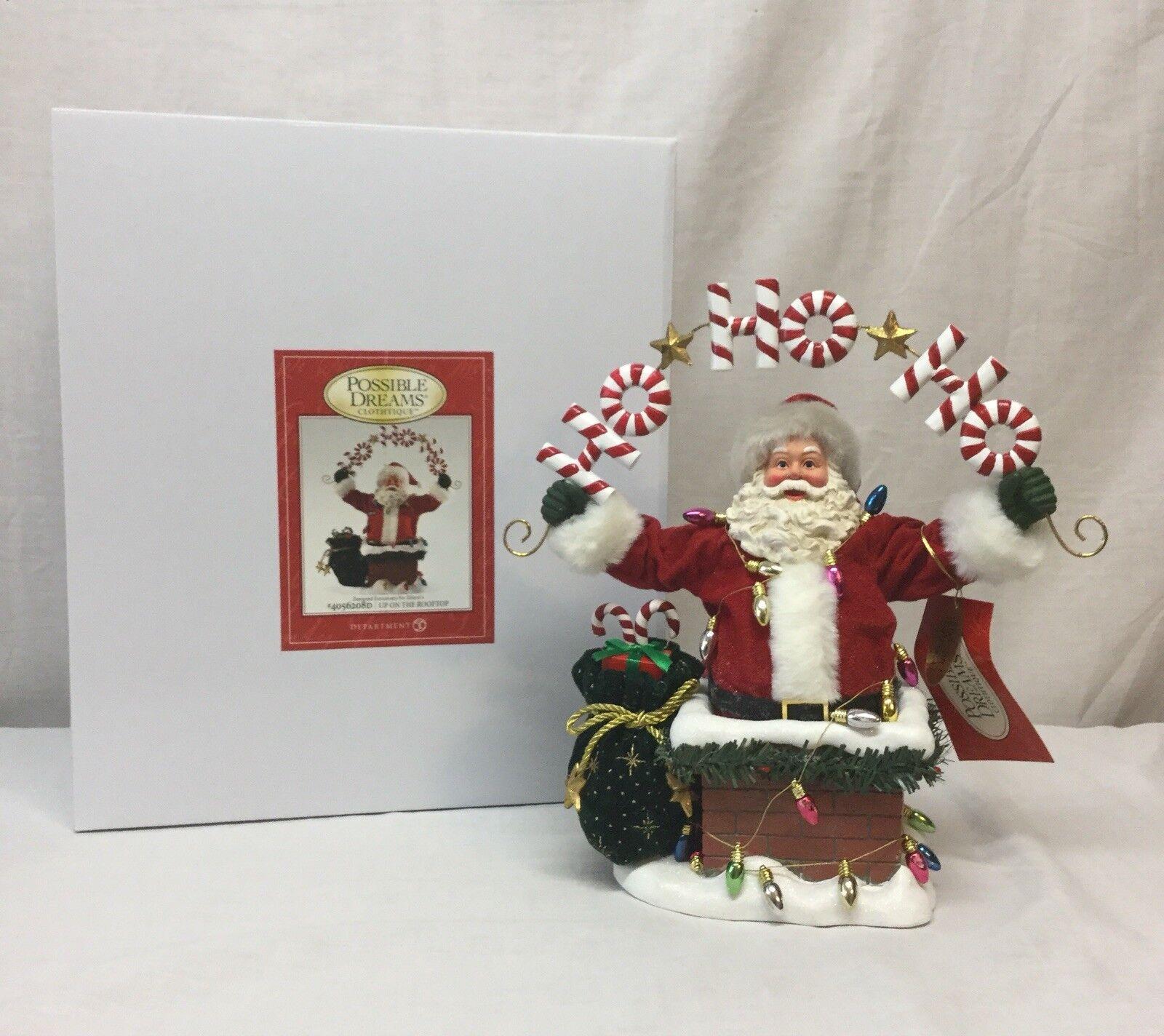 Department 56-possible Dreams Santa -  en el tejado  4056208D-Nuevo En Caja