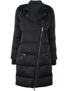 Puffer Padded Long Quilted Coat Jacket Classic Women Satin Biker Lined New 57p04qO