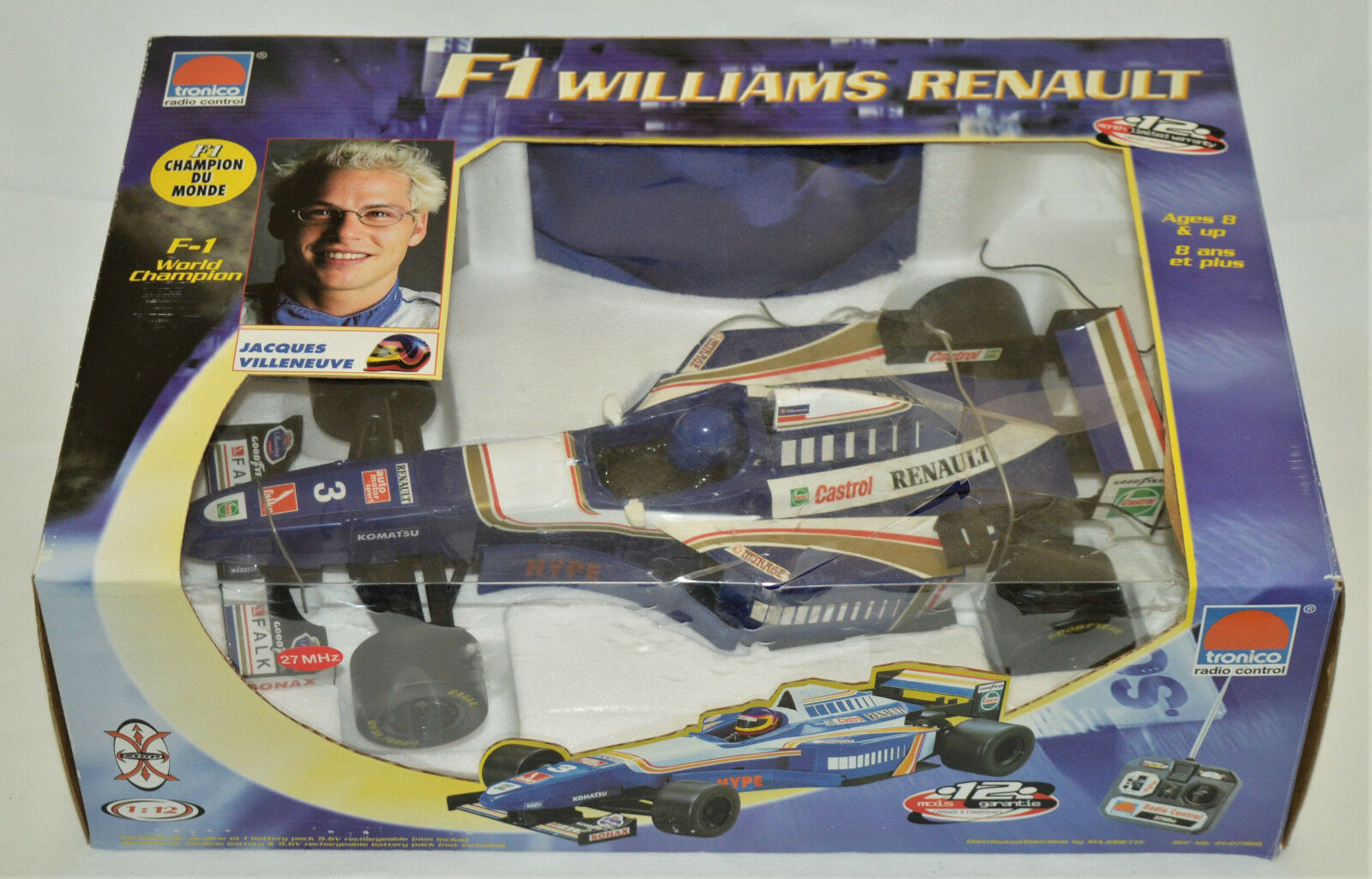 Jacques Villeneuve Villeneuve Villeneuve F1 Williams Renault tronico Radio Control Vehicle New Box e9c