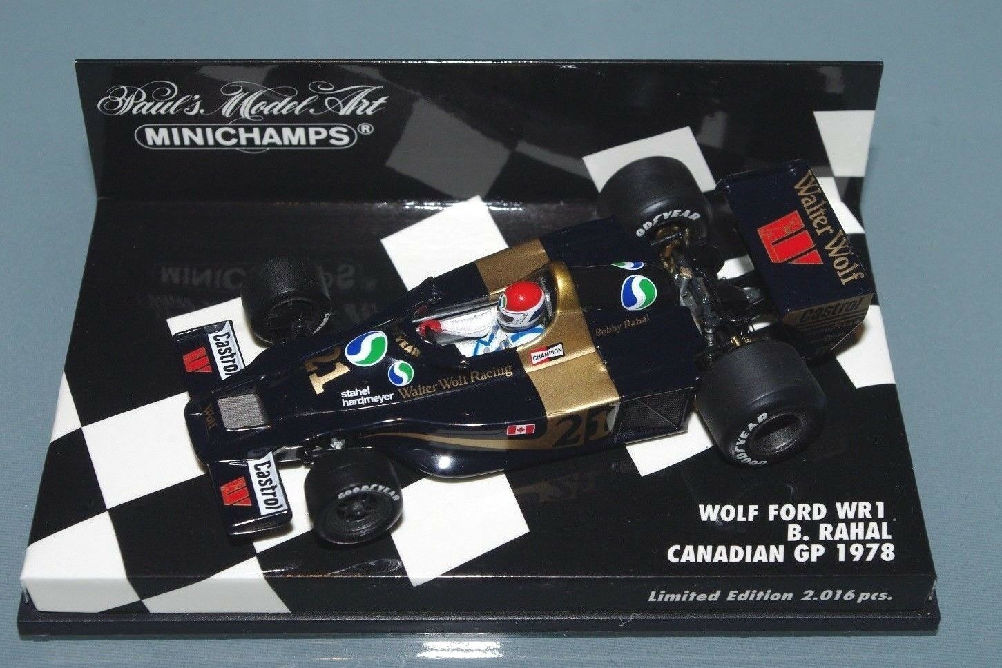 Minichamps 1 43 F1 WOLF FORD WR1 BOBBY RAHAL CANADIAN GP 1978