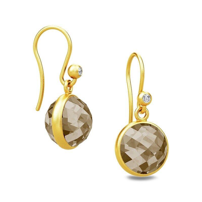 10d6009495926 Crystal Smokey Faceted Pea Sweet earrings drop zali18b0104306-Fine ...
