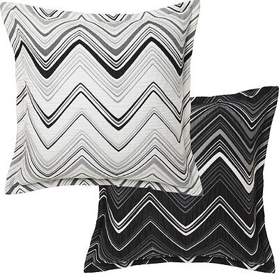 SINATRA WHITE Chevron European Pillowcase - Davinci