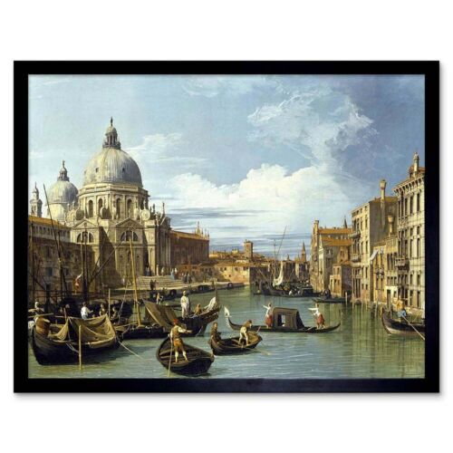 Known as Canaletto THE ENTRANCE TO GRAND CANAL VENICE OLD MASTER PAINTING FRAMED PRINT