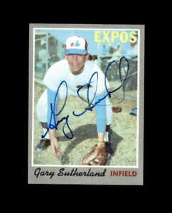 Gary Sutherland Signed 1970 Topps Montreal Expos Autograph