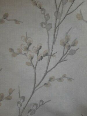 Dove Grey Fabric 2.5 Meters LAURA ASHLEY Pussy Willow Off White