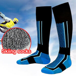 Warm-Sports-Snowboarding-Knee-High-Thermal-Ski-Socks-Thicken-Cotton-Breathable