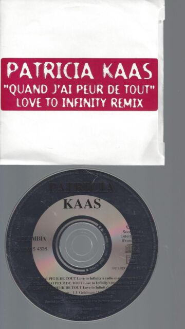 CD--PATRICIA KAAS--QUAND J'AI PEUR DE TOUT--PROMO