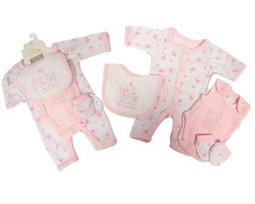 BNWT Tiny prématuré Preemie Baby Girls Incubateur 4 pièces layette Set Vêtements