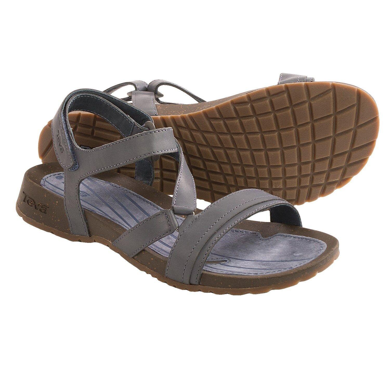 TEVA 11 42 SANDAL FLIP FLOPS chaussures Leather Slate Cabrillo Crougever  80 Retail